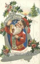 hol000731 - Santa Claus Old Vintage Antique Postcard Post Card