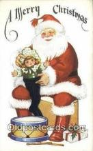 hol000732 - Santa Claus Old Vintage Antique Postcard Post Card