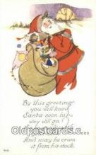 hol000734 - Santa Claus Old Vintage Antique Postcard Post Card