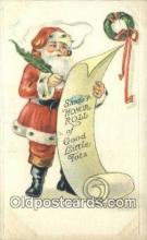 hol000736 - Santa Claus Old Vintage Antique Postcard Post Card