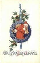 hol000737 - Santa Claus Old Vintage Antique Postcard Post Card