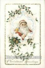 hol000740 - Santa Claus Old Vintage Antique Postcard Post Card