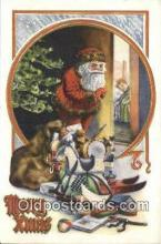 hol000742 - Santa Claus Old Vintage Antique Postcard Post Card