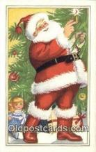 hol000743 - Santa Claus Old Vintage Antique Postcard Post Card