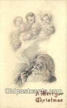 hol000748 - Santa Claus Old Vintage Antique Postcard Post Card