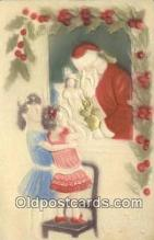 hol000749 - Santa Claus Old Vintage Antique Postcard Post Card