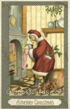 hol000753 - Santa Claus Old Vintage Antique Postcard Post Card