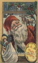 hol000758 - Santa Claus Old Vintage Antique Postcard Post Card