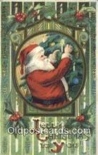 hol000762 - Santa Claus Old Vintage Antique Postcard Post Card