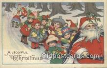 hol000774 - Santa Claus Old Vintage Antique Postcard Post Card