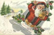 hol000776 - Santa Claus Old Vintage Antique Postcard Post Card