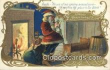 hol000782 - Santa Claus Old Vintage Antique Postcard Post Card
