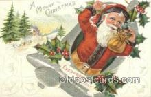 hol000788 - Santa Claus Old Vintage Antique Postcard Post Card