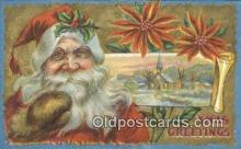 hol000790 - Santa Claus Old Vintage Antique Postcard Post Card