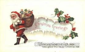 hol001617 - Santa Claus, Christmas, Postcard Postcards