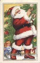 hol001943 - Christmas Santa Claus Postcard Postcards