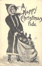 hol001948 - Artist R Ford Harper, Christmas Santa Claus Postcard Postcards