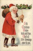 hol002014 - Christmas Santa Claus Postcard Postcards