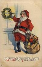 hol002021 - Christmas Santa Claus Postcard Postcards