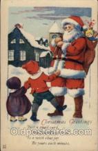 hol002022 - Christmas Santa Claus Postcard Postcards