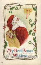hol002034 - Christmas Santa Claus Postcard Postcards