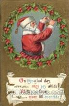 hol002040 - Christmas Santa Claus Postcard Postcards