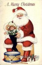 hol002045 - Christmas Santa Claus Postcard Postcards