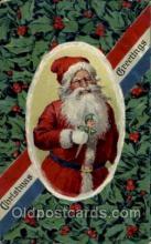 hol002050 - Christmas Santa Claus Postcard Postcards