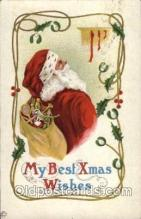 hol002054 - Christmas Santa Claus Postcard Postcards