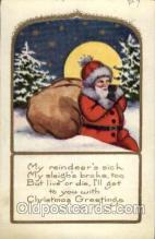 hol002055 - Christmas Santa Claus Postcard Postcards