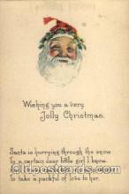 hol002068 - Christmas Santa Claus Postcard Postcards
