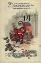 hol002078 - Christmas Santa Claus Postcard Postcards