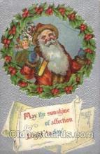 hol002079 - Christmas Santa Claus Postcard Postcards