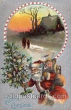 hol002080 - Christmas Santa Claus Postcard Postcards