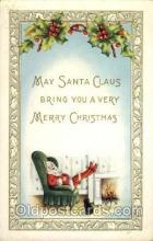 hol002086 - Christmas Santa Claus Postcard Postcards