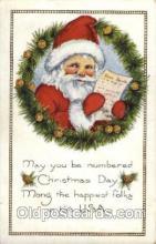hol002094 - Christmas Santa Claus Postcard Postcards