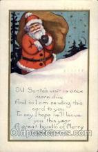 hol002096 - Christmas Santa Claus Postcard Postcards