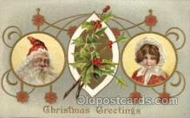 hol002110 - Christmas Santa Claus Postcard Postcards