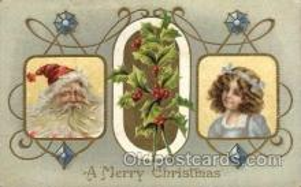 hol002111 - Christmas Santa Claus Postcard Postcards