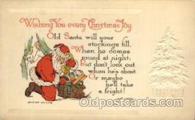 hol002119 - Christmas Santa Claus Postcard Postcards