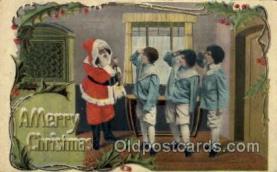 hol002122 - Christmas Santa Claus Postcard Postcards