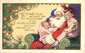 hol002131 - Christmas Santa Claus Postcard Postcards