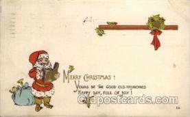 hol002136 - Christmas Santa Claus Postcard Postcards