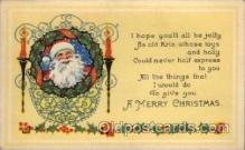 hol002146 - Christmas Santa Claus Postcard Postcards