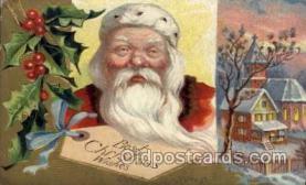 hol002149 - Christmas Santa Claus Postcard Postcards