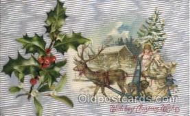hol002151 - Christmas Santa Claus Postcard Postcards