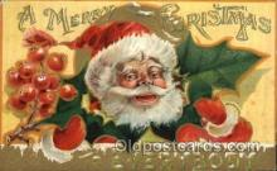 hol002152 - Christmas Santa Claus Postcard Postcards