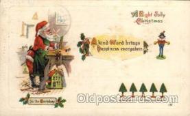 hol002153 - Christmas Santa Claus Postcard Postcards