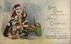 hol002154 - Christmas Santa Claus Postcard Postcards