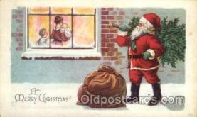 hol002156 - Christmas Santa Claus Postcard Postcards
